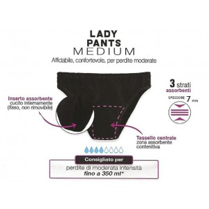 Slipss Lady Pants Medium Donna